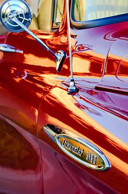 1957 Chevrolet 3100 Pickup Truck Side Emblem Art Print