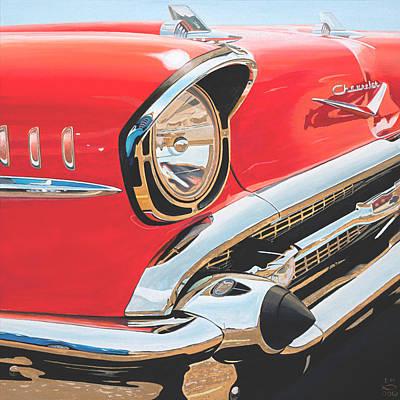Painting - 1957 Chevrolet Bel Air by Branden Hochstetler