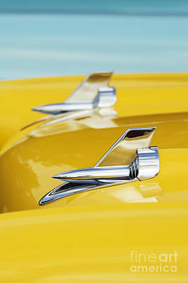 Street Car Photograph - 1957 Chevrolet Bel Air Hood Rockets by Tim Gainey