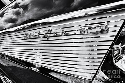 Street Car Photograph - 1957 Chevrolet Bel Air Monochrome by Tim Gainey