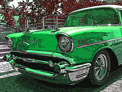 Photograph - 1957 Chevrolet Bel Air by Samuel Sheats