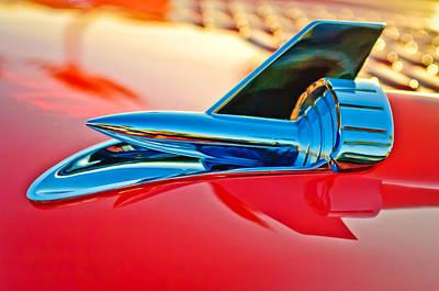 Chevy Bel Air Photograph - 1957 Chevrolet Belair Hood Ornament by Jill Reger