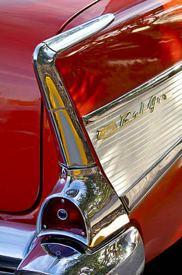 Autos Photograph - 1957 Chevrolet Belair Taillight by Jill Reger