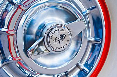 1957 Chevrolet Corvette Wheel 3 Art Print by Jill Reger