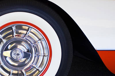 Photograph - 1957 Chevrolet Corvette Wheel by Jill Reger