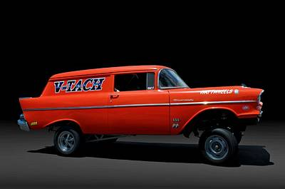 Photograph - 1957 Chevrolet Sedan Delivery Gasser by Tim McCullough
