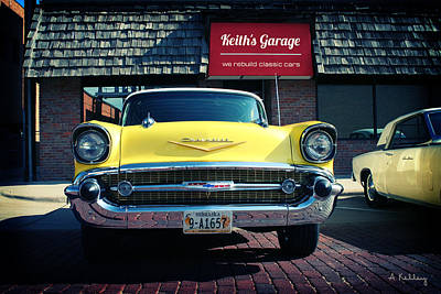 Photograph - 1957 Chevy Bel Air by Andrea Kelley