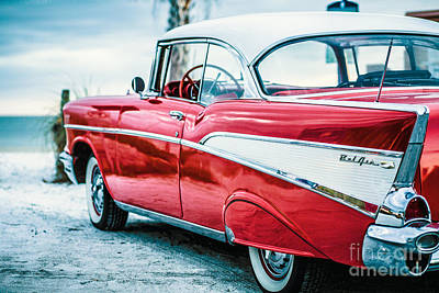Sofa Size Photograph - 1957 Chevy Bel Air by Edward Fielding
