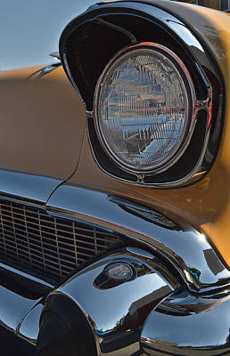 Photograph - 1957 Chevy Bel Air Headlight by Bill Owen