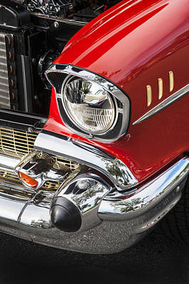 Photograph - 1957 Chevy Bel Air Headlight by Rich Franco
