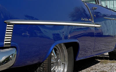 Photograph - 1957 Chevy Bel Air In Blue by Kathy K McClellan