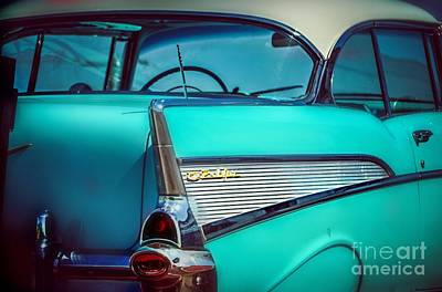 Photograph - 1957 Chevy Bel-air by Peggy Franz
