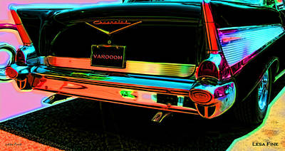 Photograph - 1957 Chevy Bel Air -red Varooom by Lesa Fine