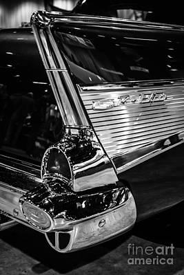 1957 Chevy Bel Air Tail Fin Art Print by Paul Velgos