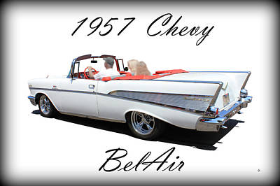 Photograph - 1957 Chevy Belair by Betty Northcutt