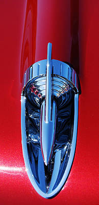 Photograph - 1957 Chevy Belair Hood Rocket by Jani Freimann