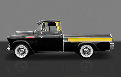1957 Chevy Cameo Pickup Truck Art Print by Frank J Benz
