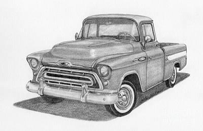 1957 Chevy Cameo Pickup Truck Art Print by Rita Palmer