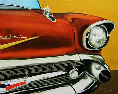 1957 Chevy - Coppertone Art Print