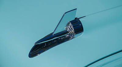 Photograph - 1957 Chevy Hood Ornament by Roger Mullenhour