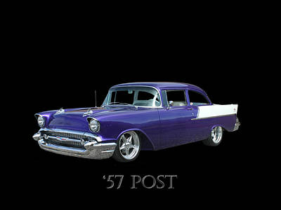 Photograph - 1957 Chevy Post by Jack Pumphrey