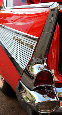 Photograph - 1957 Chevrolet Bel Air Tail Fin Art by Reid Callaway