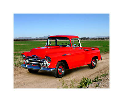 1957 Chevrolet 3100 Pick Up Truck Art Print by Jack Pumphrey