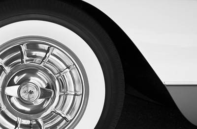 1957 Corvette Wheel Art Print by Jill Reger