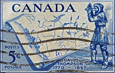 Photograph - 1957 David Thompson Canada Stamp by Bill Owen
