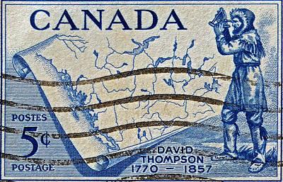 Photograph - 1957 David Thompson Canada Stamp by Bill Owen