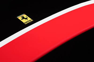 Photograph - 1957 Ferrari Tr 250 - 0714 Hood Emblem by Jill Reger