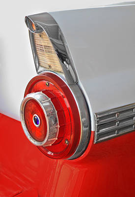 Photograph - 1957 Ford Crown Victoria Tail Light by David and Carol Kelly
