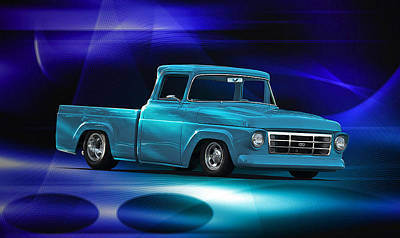 1957 Ford F100 Pick Up Art Print by Dave Koontz