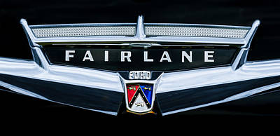 Ford Fairlane Photograph - 1957 Ford Fairlane Convertible Emblem by Jill Reger