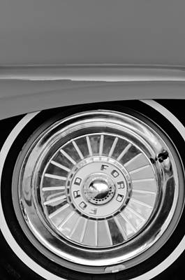 1957 Ford Photograph - 1957 Ford Fairlane Wheel Emblem by Jill Reger