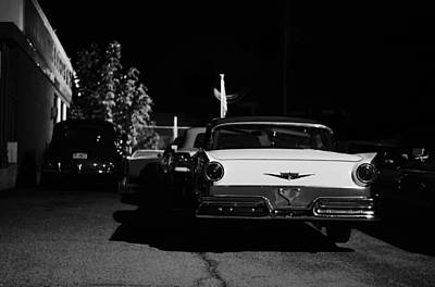 Chrome Bumper Photograph - 1957 Ford Noir by Laura Fasulo