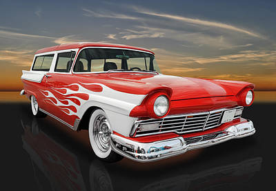 1957 Ford Custom Photograph - 1957 Ford Ranch Wagon -  57fordrnchwag by Frank J Benz