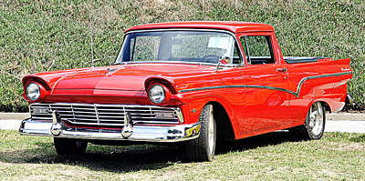 Photograph - 1957 Ford Ranchero by AJ  Schibig