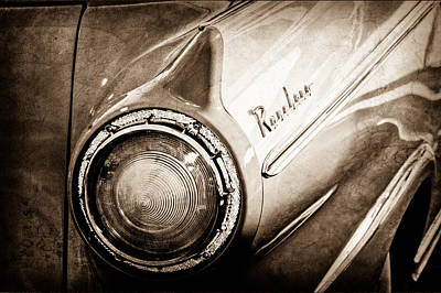 1957 Ford Photograph - 1957 Ford Ranchero Pickup Truck Emblem Taillight by Jill Reger