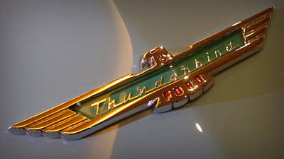 Photograph - 1957 Ford Thunderbird Emblem by Joseph Skompski