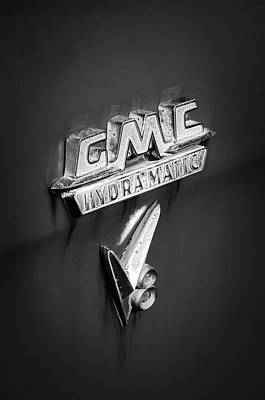 Photograph - 1957 Gmc Hydramatic V8 Emblem by Jill Reger