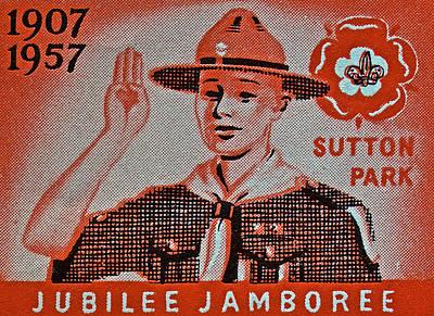 Photograph - 1957 Jubilee Jamboree England Stamp by Bill Owen