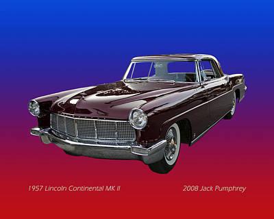 1957 Lincoln M K I I Art Print by Jack Pumphrey