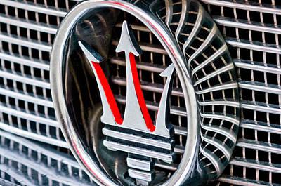 Photograph - 1957 Maserati Grille Emblem by Jill Reger