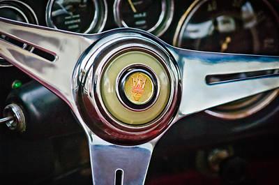 Photograph - 1957 Maserati Steering Wheel Emblem -0631c by Jill Reger