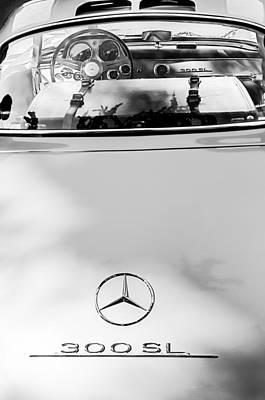 Photograph - 1957 Mercedes-benz Gullwing Rear Emblem by Jill Reger