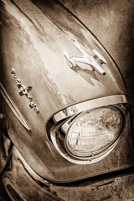 Photograph - 1957 Oldsmobile 98 Starfire Convertible Hood Ornament - Emblem by Jill Reger