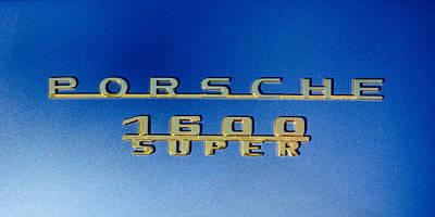 1957 Porsche 1600 Super Emblem -0562c Art Print by Jill Reger