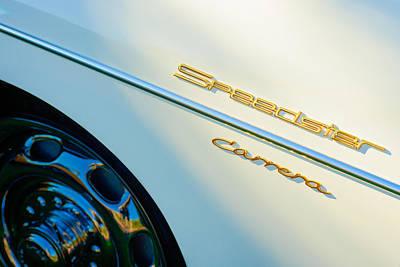 Transportation Photograph - 1957 Porsche 356 A Carrera 1500 Gs Speedster Emblem by Jill Reger