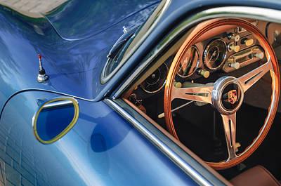 1957 Porsche Steering Wheel Art Print